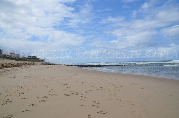 Plage du centre de Lacanau en direction de la plage Sud