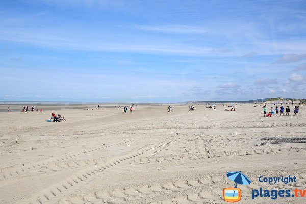 Main beach in Le Touquet - France