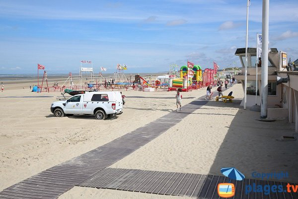 First aid station on the Touquet beach