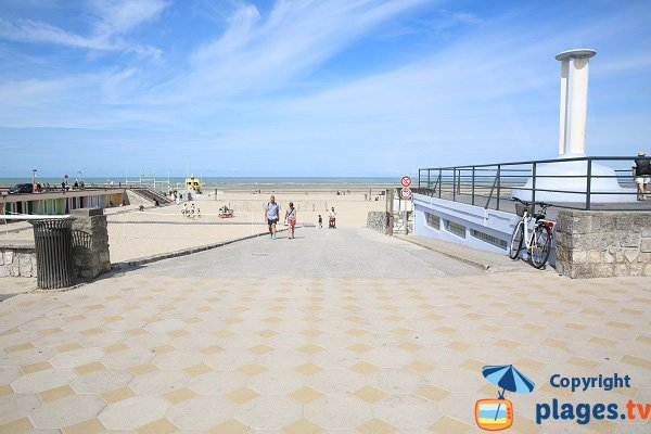 Accès à la plage du centre du Touquet