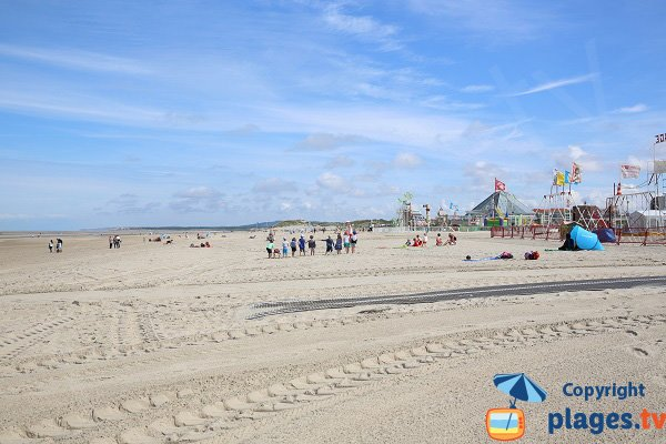 Games for chilfdren on Touquet beach