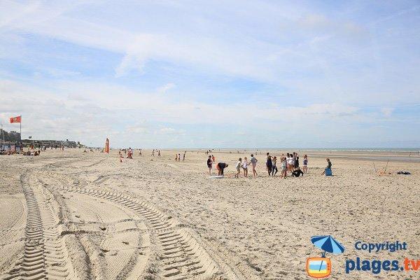 Foto della spiaggia dal centro della città di Le Touquet - guardando verso sud