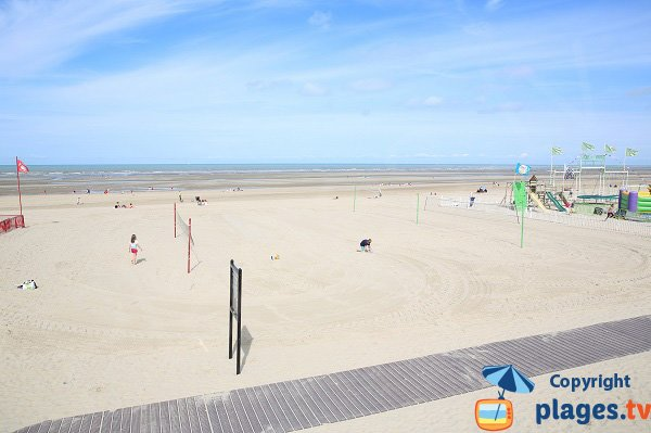 Volleyball courts on Touquet beach