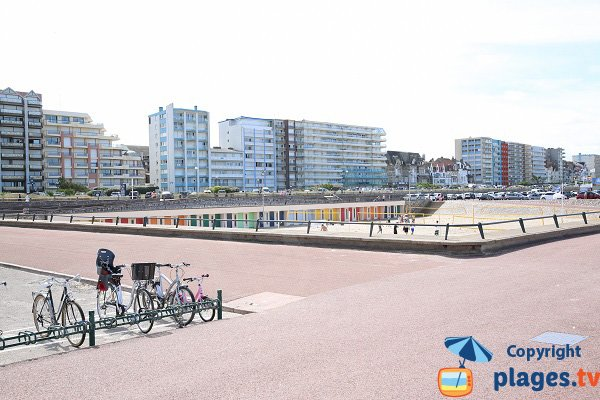 Patio le long de la plage du Touquet