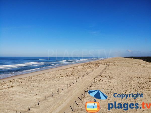 Dunes de Messanges avec vue sur la plage