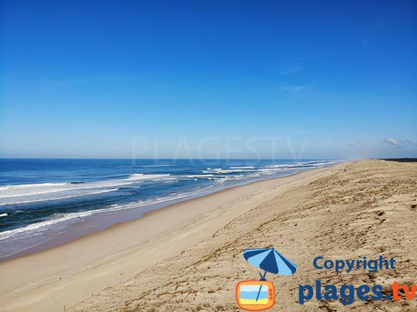 Photo de la plage de Messanges dans les Landes