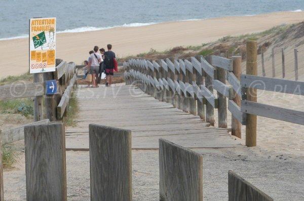 Accès à la plage de Messanges (Landes)