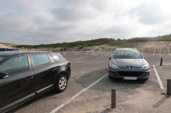 Car park of Messanges beach
