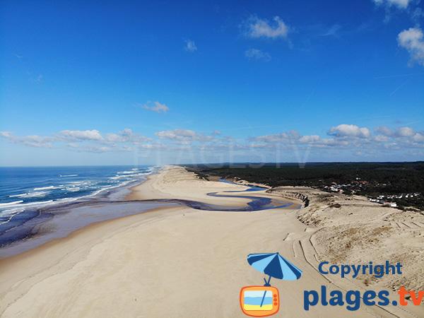 Photo de la plage de Moliets et Maa