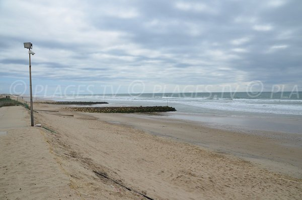 Beach in Montalivet in France - Gironde