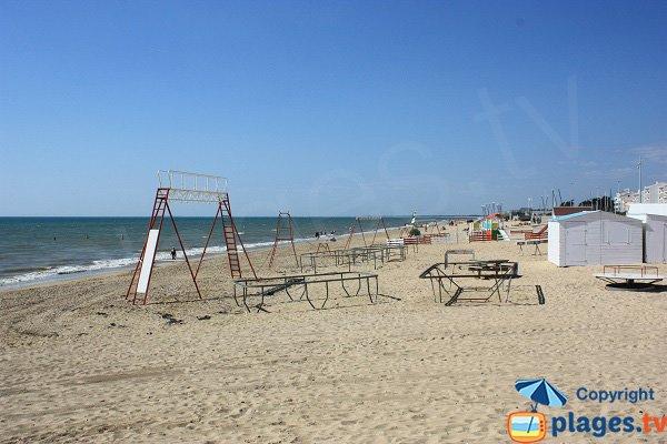 Spiaggia nel centro della città di Notre Dame de Monts
