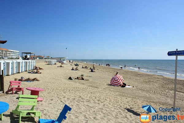 Photo of central beach in Notre Dame de Monts - France