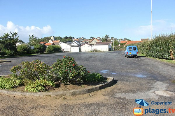 Parking de la plage de Saint-Côme-de-Fresné