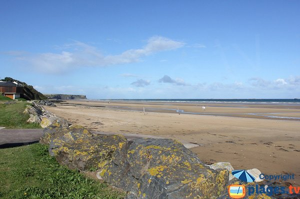 Photo of Central beach of Saint Come de Fresné - Normandy