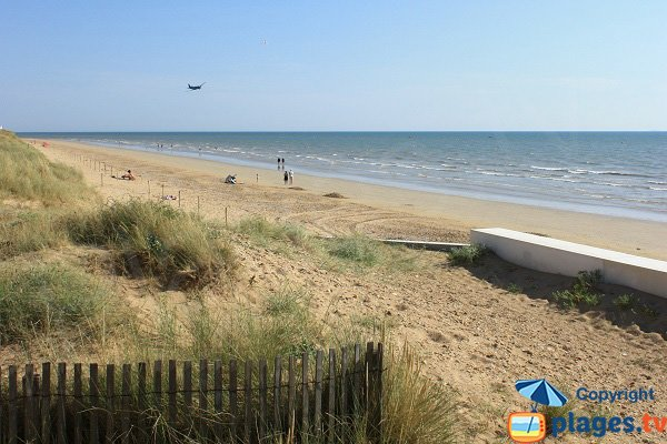 Photo of the Central beach in Notre Dame de Monts in France