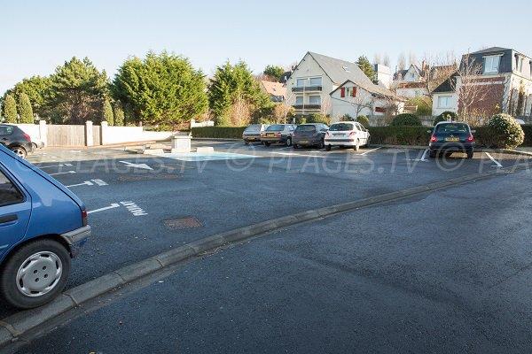 Parking de la plage de Villerville
