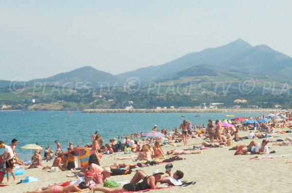 Photo de la plage d'Argelès en été
