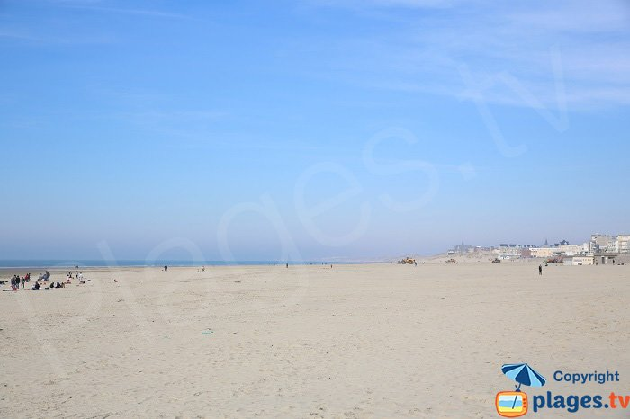 The large beach of Berck sur Mer