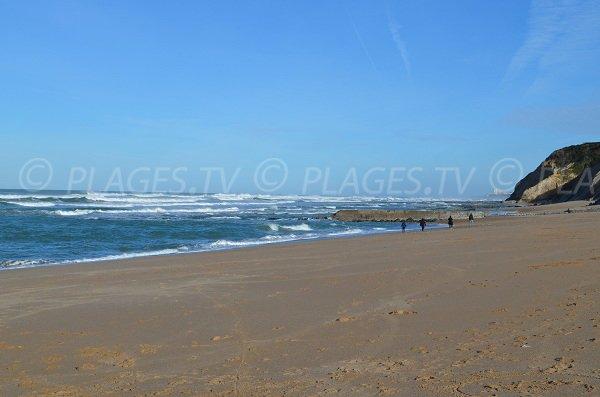 Plage de sable publique à Bidart