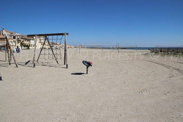 giogchi per bambini - spiaggia a Carnon