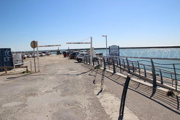 parcheggio della spiaggia a Carnon