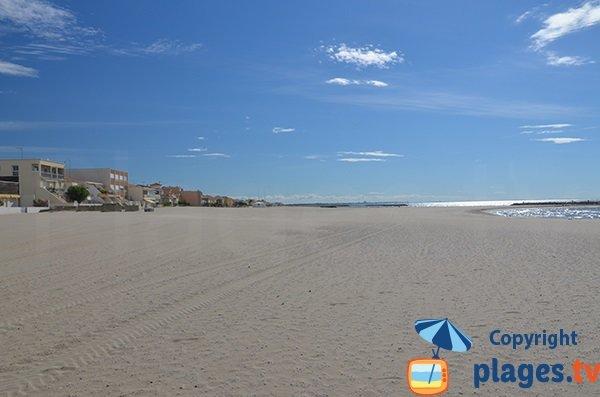 Photo de la plage du centre de Carnon