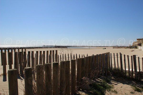Spiaggia del Centro a Carnon-Plage - Francia