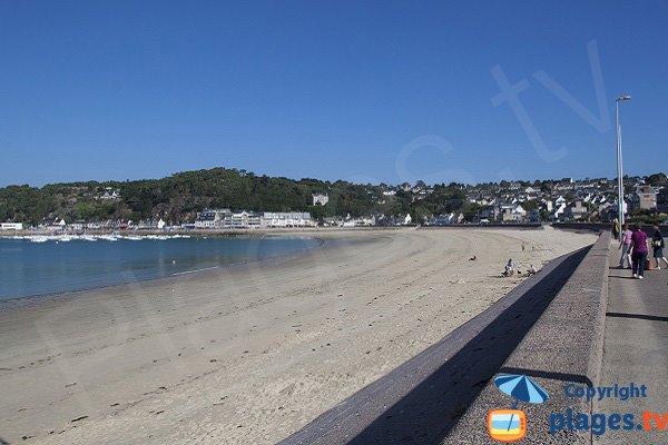 Main beach in Erquy in Erquy