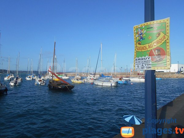 Port of Erquy in France