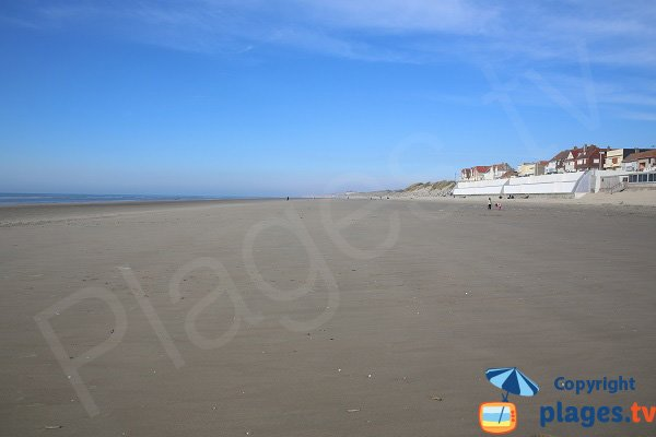 Main beach of Merlimont - Northest France