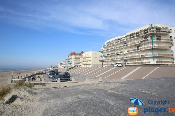 Vue de la plage de Merlimont depuis le sud
