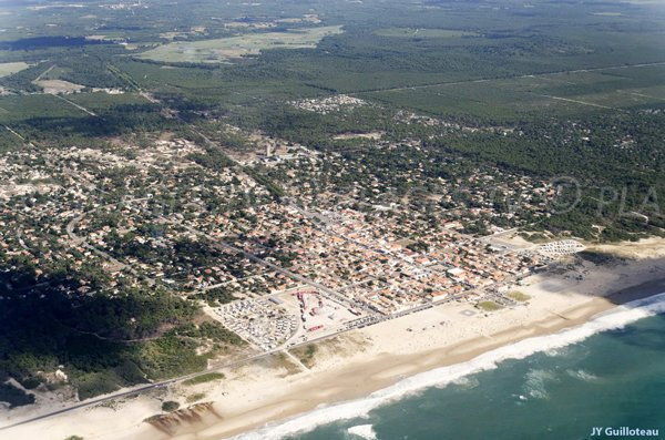 Aerial view of Montalivet and its beaches