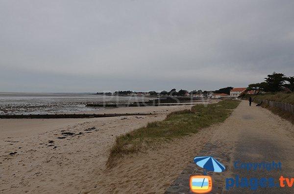 Photo de la plage du Centre à Les Moutiers en Retz