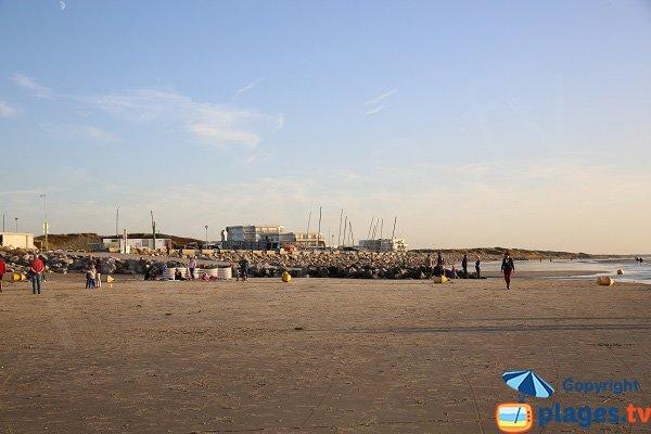 Environnement de la plage du centre nautique - Hardelot