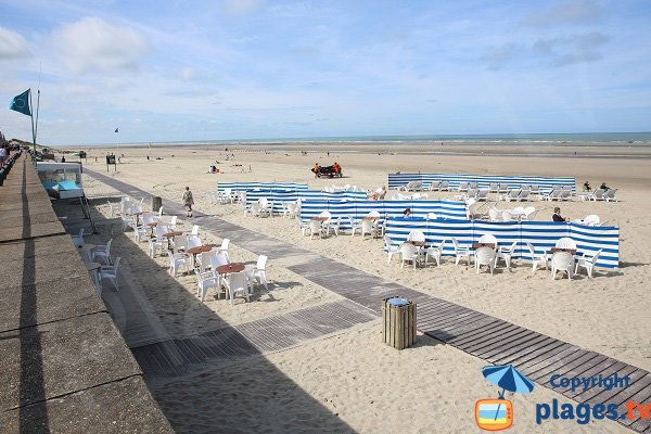 Private beach in Le Touquet - France