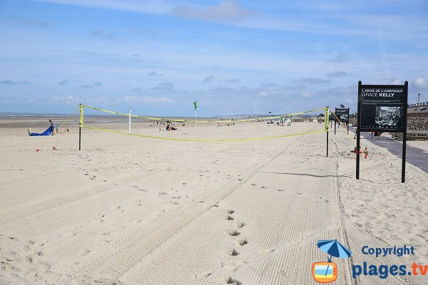 Volleyball courts in Le Touquet beach