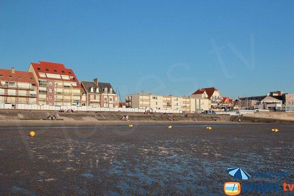 Photo de la plage au niveau du centre nautique de Wimereux