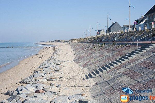 Central beach in Pirou in France
