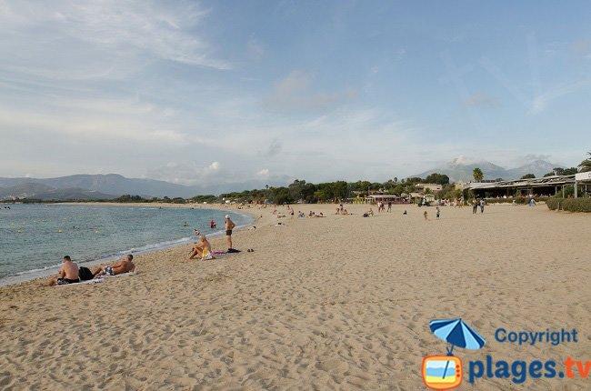 Main beach of Porticcio