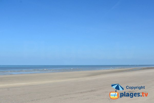 Main beach of Quend-Plage in France