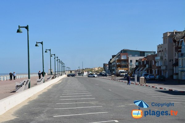 Seaside front of Quend-Plage