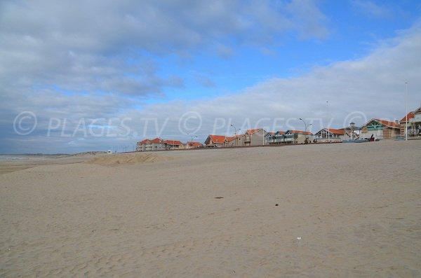 Environnement de la plage du centre ville de Soulac