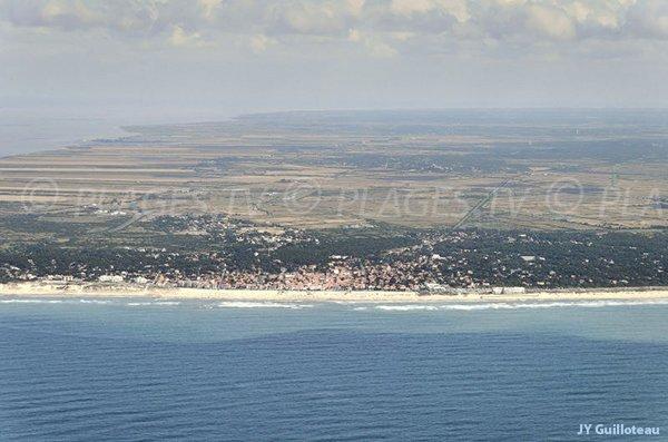 Photo aérienne des plages de Soulac