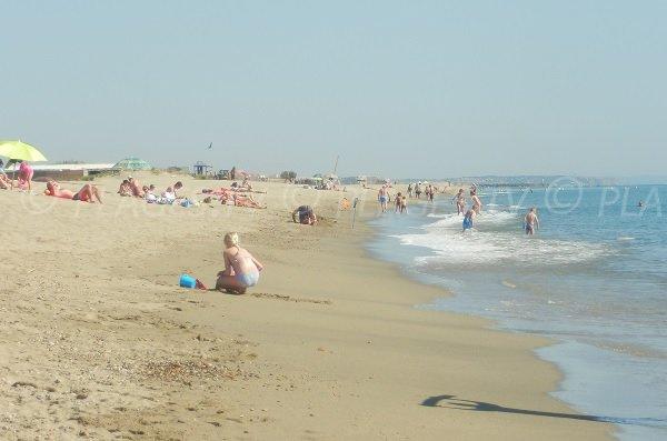 Spiaggia Torreilles in estate