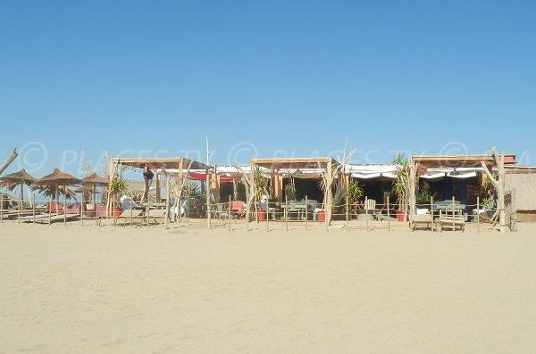 Spiagge private sulla spiaggia di Torreilles centrali