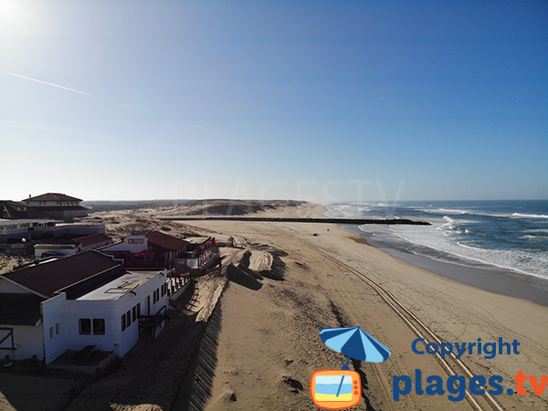 Photo of the central beach in Vieux Boucau in Landes department