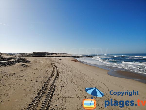 Vue sur le courant de Soustons depuis la plage centrale de Vieux Boucau