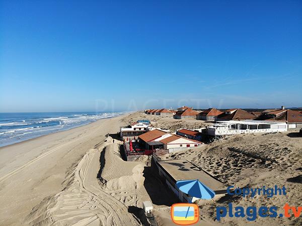 Restaurants sur la dune de la grande plage de Vieux Boucaux