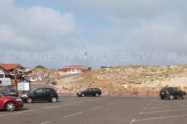 Parking de la plage du centre de Vieux Boucau