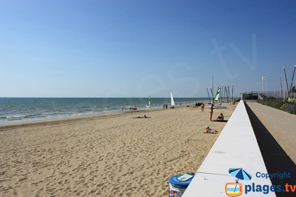 North of Notre Dame de Monts beach in France